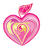 Vector clipart: Apple-heart