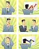 Vector clipart: Business people in the different situations