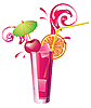 Vector clipart: glass of cherry juice
