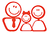 Vector clipart: Icon of happy family