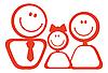 Векторный клипарт: Икона счастливой семьи