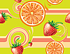 Vector clipart: Seamless background with fruits