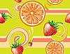 Векторный клипарт: Бесшовные фон с фруктами