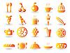 Векторный клипарт: Продовольственная Icon набор
