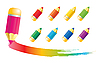 Vector clipart: Pencil icons