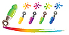 Vector clipart: Set of pen icons