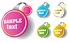 Vector clipart: Set of beautiful stickers