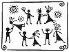 Vector clipart: Drawings of dancing people