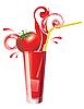 Векторный клипарт: Томатный сок