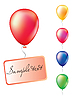 Vector clipart: Set of air balloons