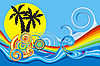 Vector clipart: tropical beach