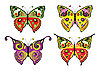 Vector clipart: Set of butterflies