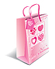 Vector clipart: Paper shopping bag with hearts