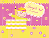Vector clipart: Baby birthday announcement card