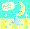 Vector clipart: Baby arrival announcement card