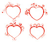 Vector clipart: Beautiful hearts for design