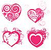 Векторный клипарт: Красивые сердечки для дизайна