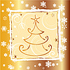 Vector clipart: Christmas card with decorations