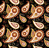 Vector clipart: Seamless paisley background