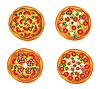 Vector clipart: Four pizzas for design