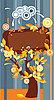 Векторный клипарт: Декоративная рамка с осенними листьями