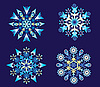 Vector clipart: Christmas Holiday Set of Snowflakes