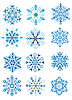 Christmas Holiday Set of Snowflakes | Stock Vector Graphics