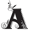 Vector clipart: Initial letter A