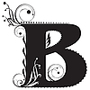 Vector clipart: Decorative letter B