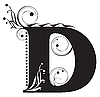 Vector clipart: Initial letter D