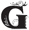 Vector clipart: Decorative letter G