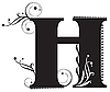 Vector clipart: Initial letter H