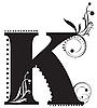 Vector clipart: Initial letter K