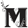 Vector clipart: Initial letter M