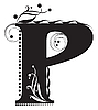 Vector clipart: Initial letter P
