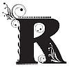 Vector clipart: Initial letter R