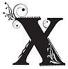 Vector clipart: Initial letter X