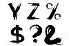 Векторный клипарт: Набор букв YZ
