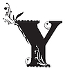 Vector clipart: Initial letter Y