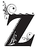 Vector clipart: Decorative letter Z