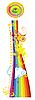 Векторный клипарт: Радужная буквица I