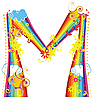 Rainbow letter M | Stock Vector Graphics
