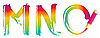 Vector clipart: Set of rainbow letters MNO