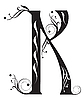 Vector clipart: Decorative letter K
