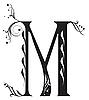 Vector clipart: Decorative letter M