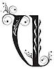 Vector clipart: Decorative letter U