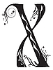 Vector clipart: Decorative letter X