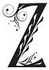 Vector clipart: Decorative letter Z