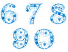 Vector clipart: digits with snowflakes