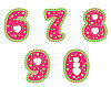 Vector clipart: digits with hearts